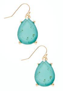 Glitter Tear Stone Earrings