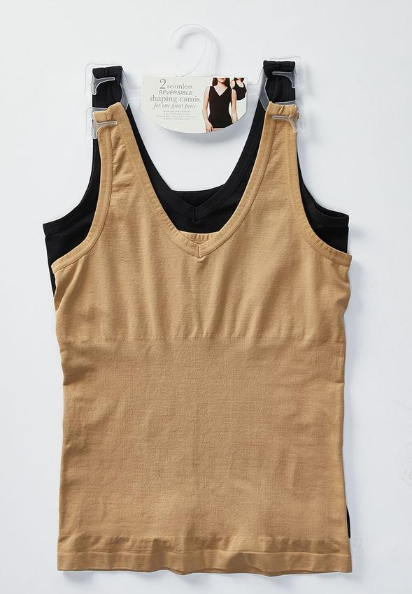 e11473122 Plus Size Two Piece Reversible Cami Set Shapewear Cato Fashions