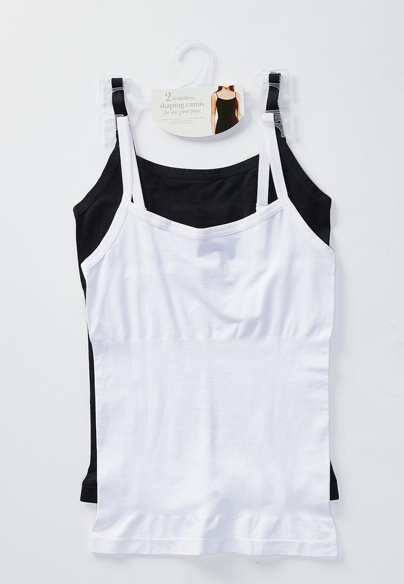 710224a662 Plus Size Two Piece Seamless Cami Set Shapewear Cato Fashions