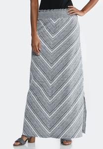 Mitered Hacci Maxi Skirt