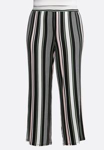 Plus Size Multi Stripe Palazzo Pants