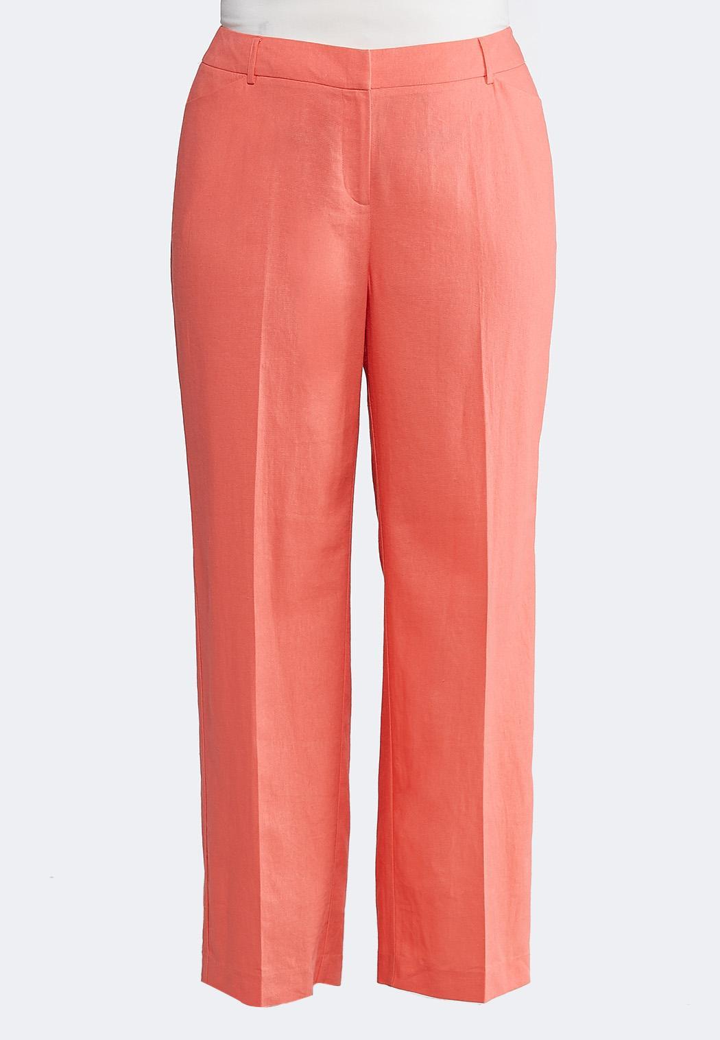 dfab357a3e Plus Size Linen Trouser Pants Wide Leg Cato Fashions