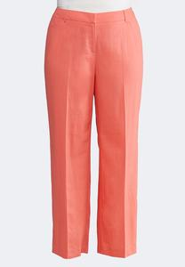 Plus Size Linen Trouser Pants