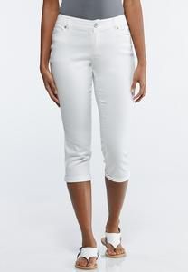 Petite White Cropped Jeans