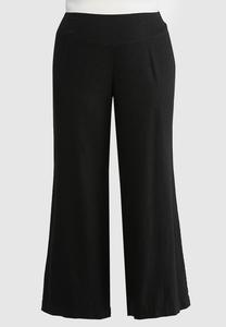 Plus Size Wide Leg Linen Pants
