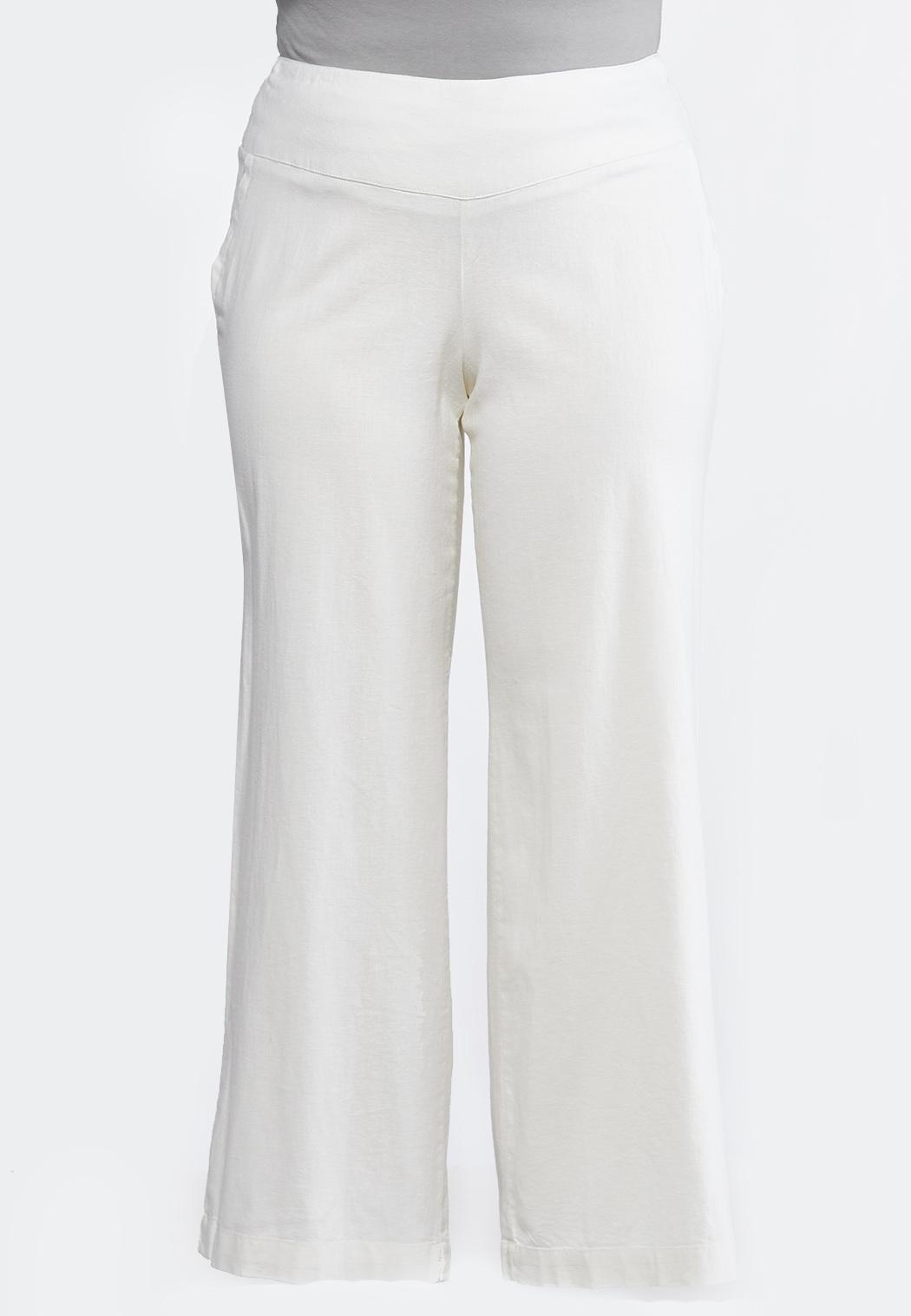 9740fa4a6d Plus Size Wide Leg Linen Pants Pants Cato Fashions