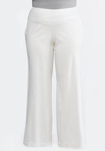 Plus Size Wide Leg Linen Pants