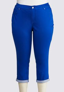 Plus Size Cropped Colored Jeans