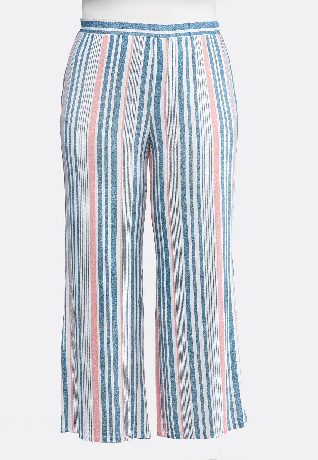 2ba17f67f3b Plus Size Stripe Palazzo Pants Wide Leg Cato Fashions