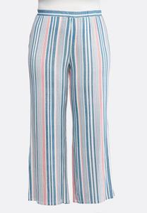 6dc81213449a6 Plus Size Stripe Palazzo Pants