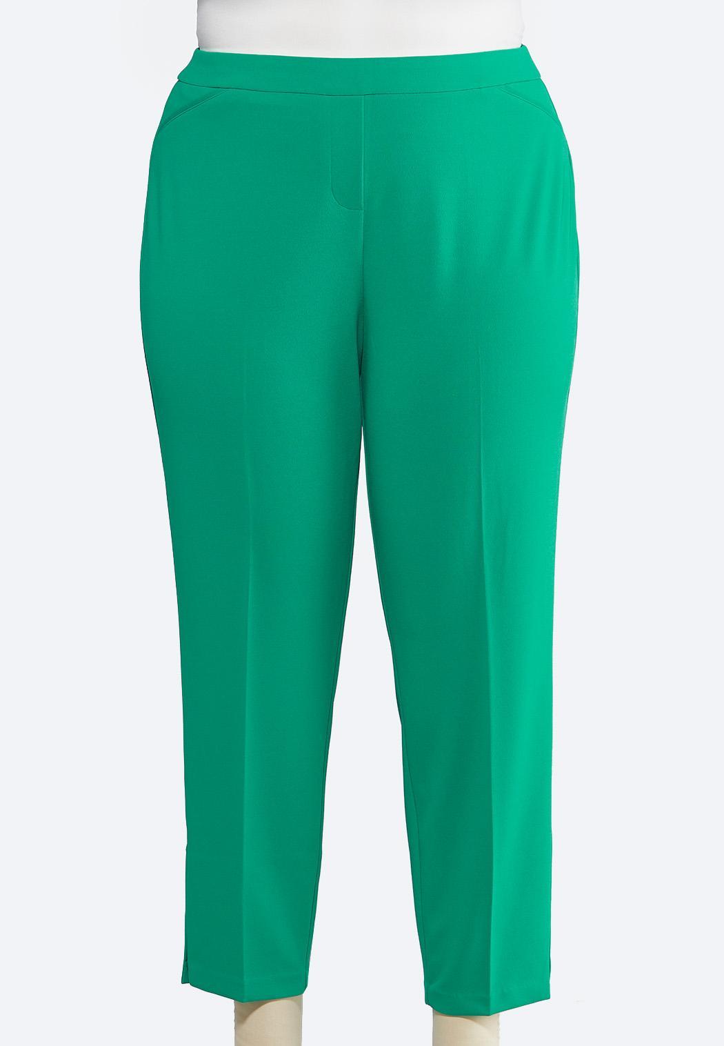 cccc3e572b Plus Size Green Slim Ankle Pants Pants Cato Fashions