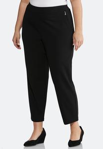 Plus Size Slim Zip Pocket Pants