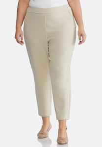 Plus Size Slim Zip Pocket Pants
