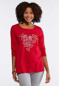 Plus Size Love Is In The Air Tee