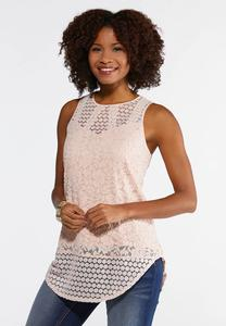 Mixed Lace Tank