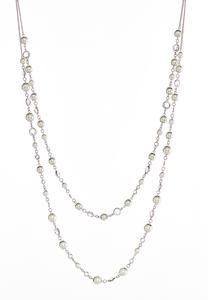 Two Row Pearl Layered Necklace
