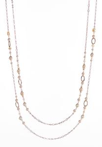 Two Row Beaded Layering Necklace