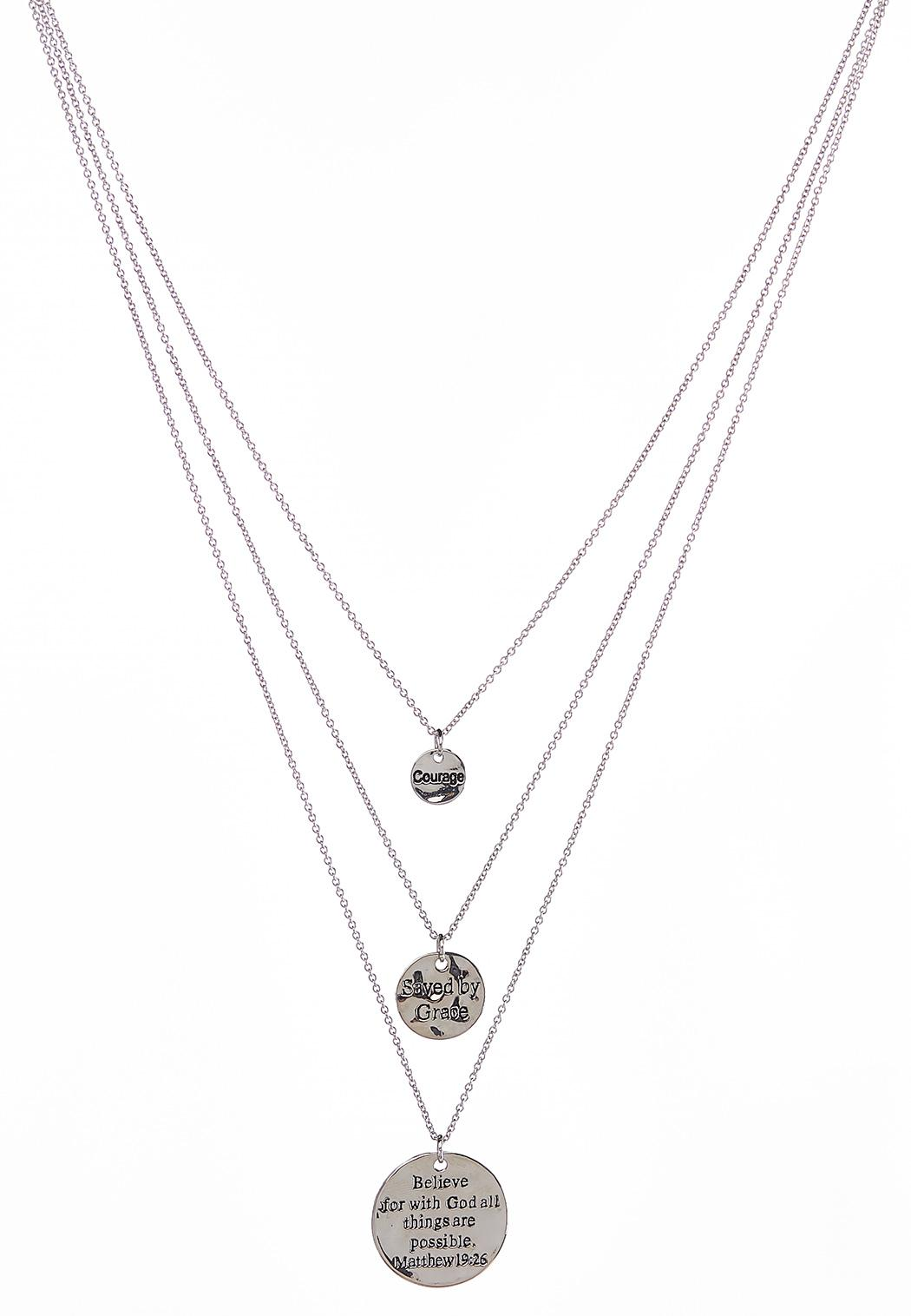 Inspirational Disc Layered Necklace