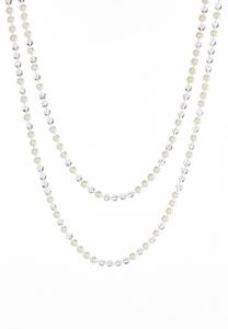 Pearl Rondelle Layering Necklace