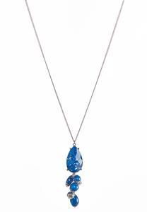 Cluster Bead Tear Pendant Necklace