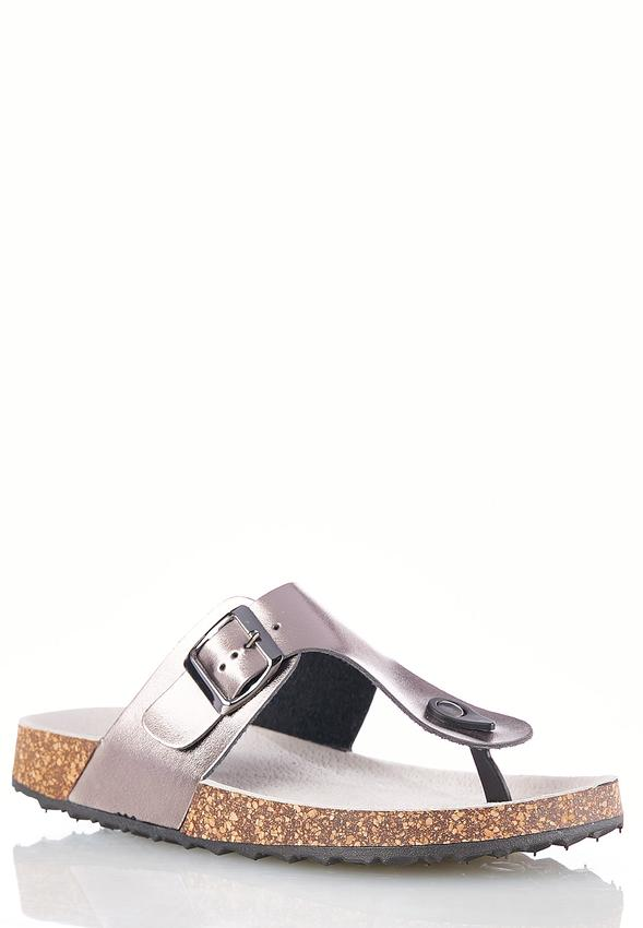 4821113023c Thong Buckle Strap Sandals Flats Cato Fashions