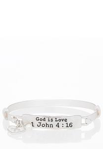 God Is Love Cuff Bracelet
