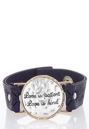 Love Is Patient Snap Bracelet