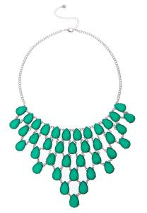 Tear Jeweled Bib Necklace