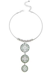 Filigree Flower Wire Necklace