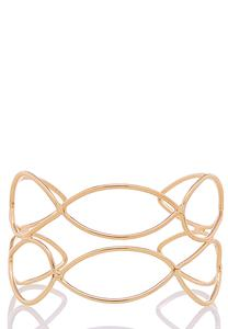 Open Oval Gold Cuff Bracelet