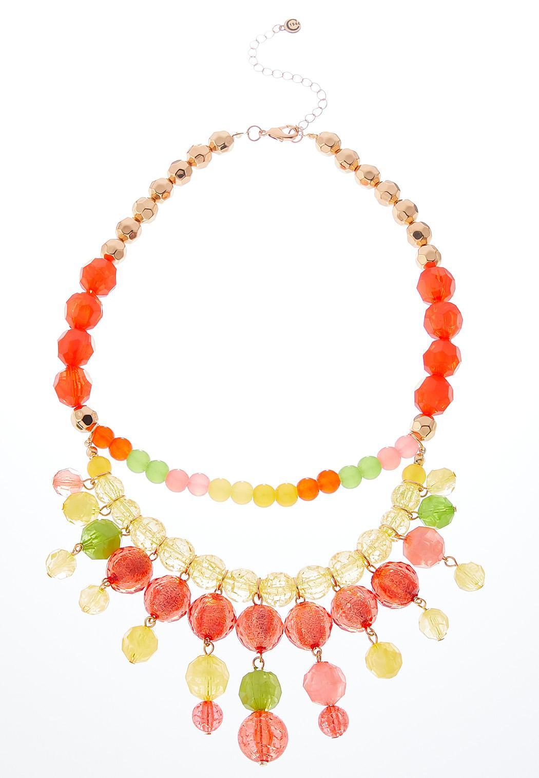 Citrus Bead Swag Necklace