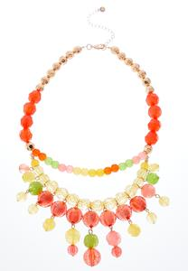 Citrus Bead Swag Necklace