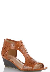 Laser Cut T-Strap Wedges