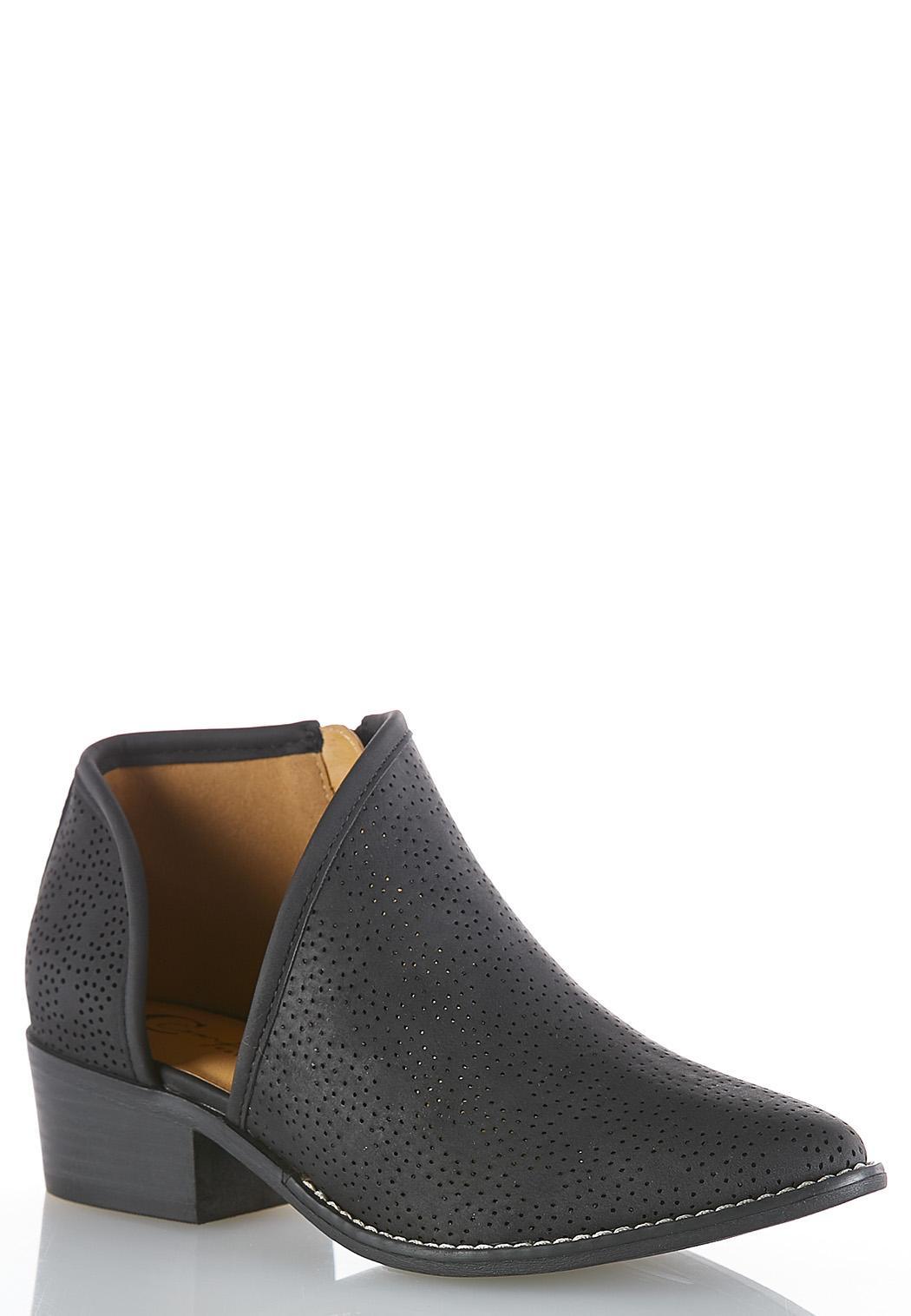 Wide Width Open Side Ankle Boots