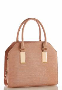 Textured Metallic Structured Satchel