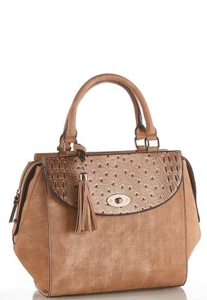 Structured Turn Lock Satchel