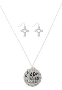 Love Never Fails Necklace Set
