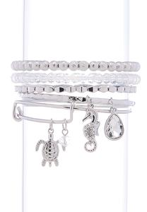 Seashore Charm Multi Bracelet Set
