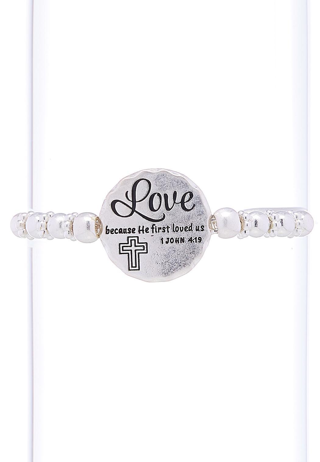 John Scripture Pull String Bracelet