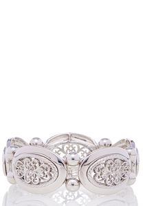 Filigree Silver Stretch Bracelet