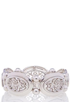 Filigree Silver Stretch Bracelet