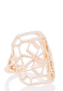 Cutout Rose Gold Square Ring