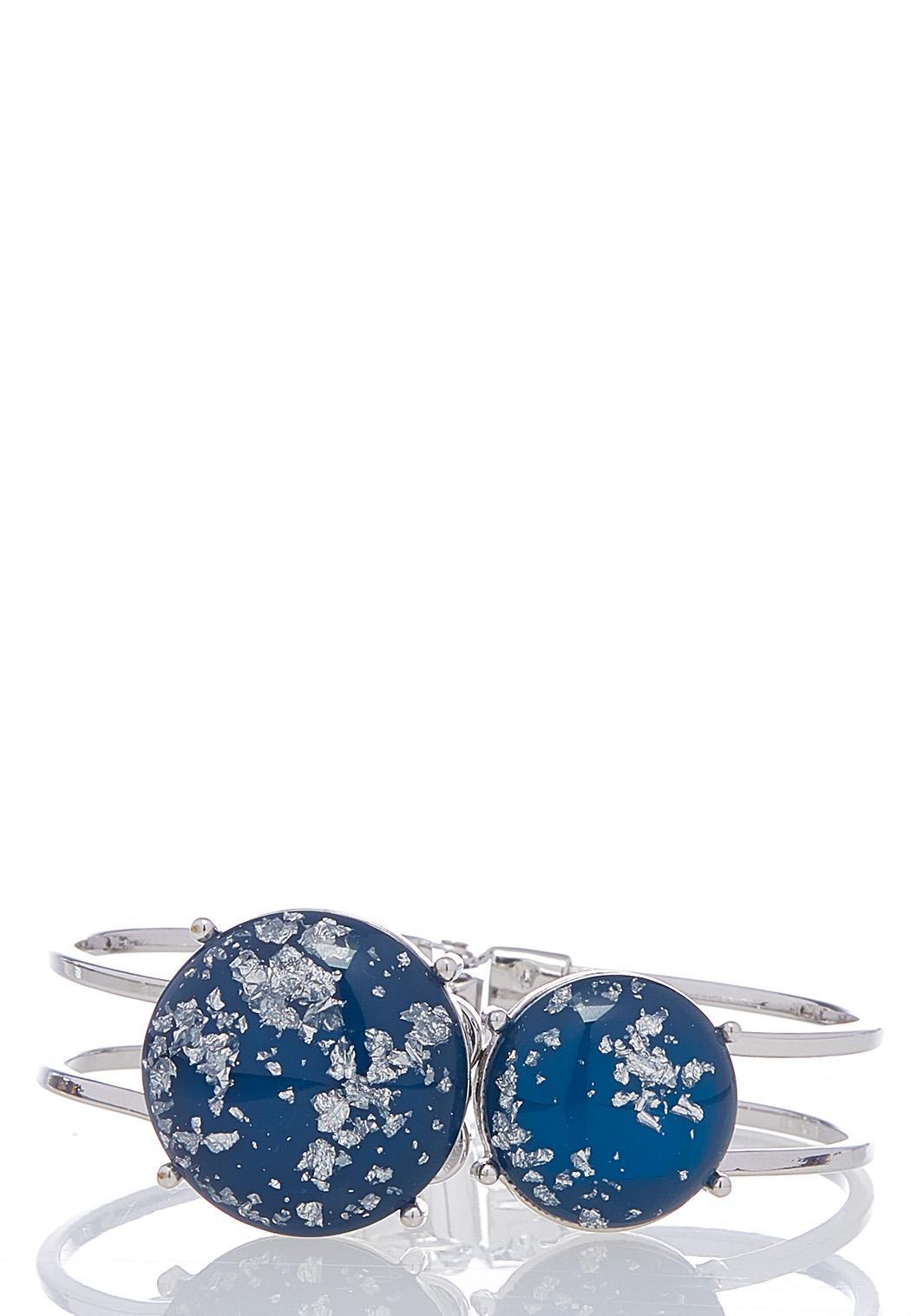 Glittery Disc Cuff Bracelet