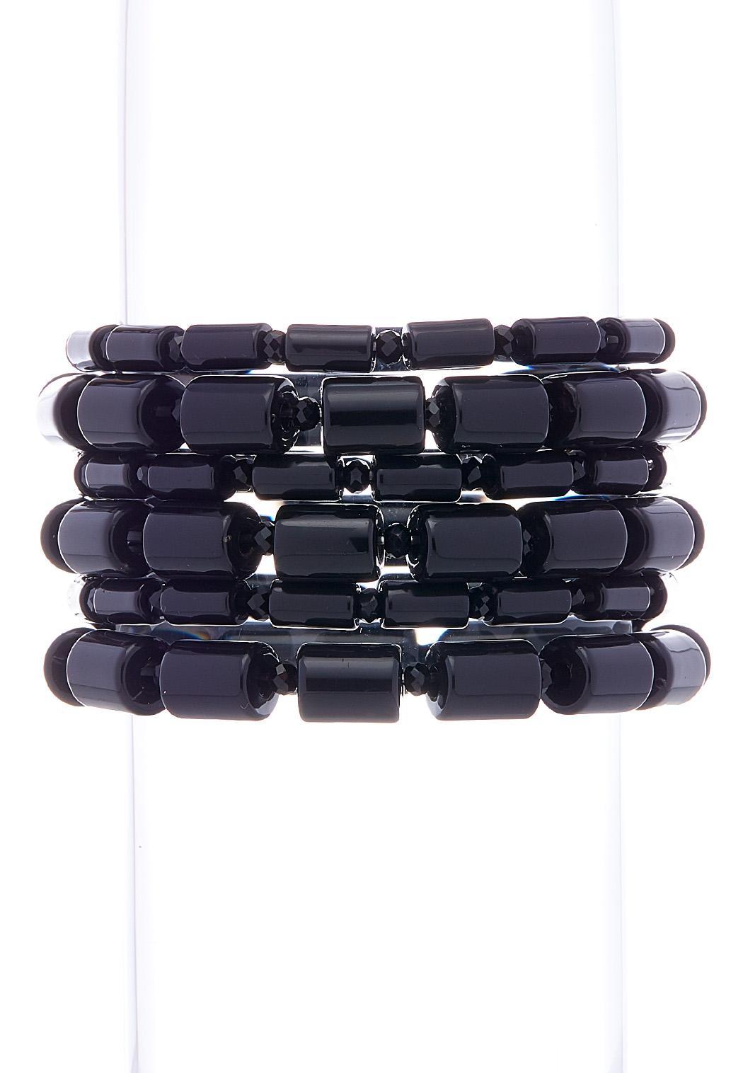 Cylinder Bead Stretch Bracelet Set