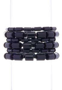 Cylinder Bead Stretch Bracelet Set