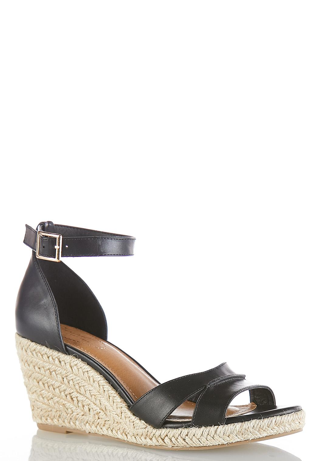 Cutout Vamp Roped Wedges