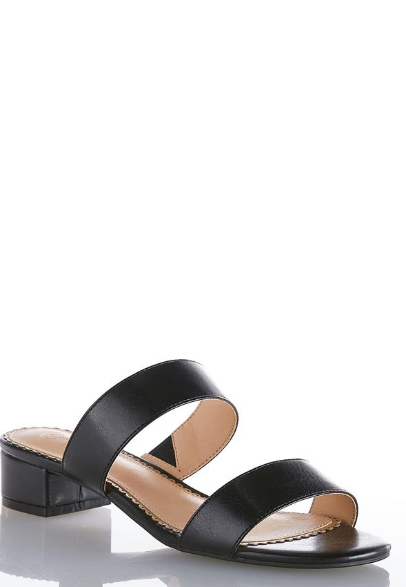 bd06bd2450 Two Band Slide Sandals Sandals Cato Fashions