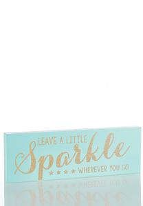 Glitter Verbiage Wooden Plaque