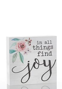 Find Joy Wooden Plaque