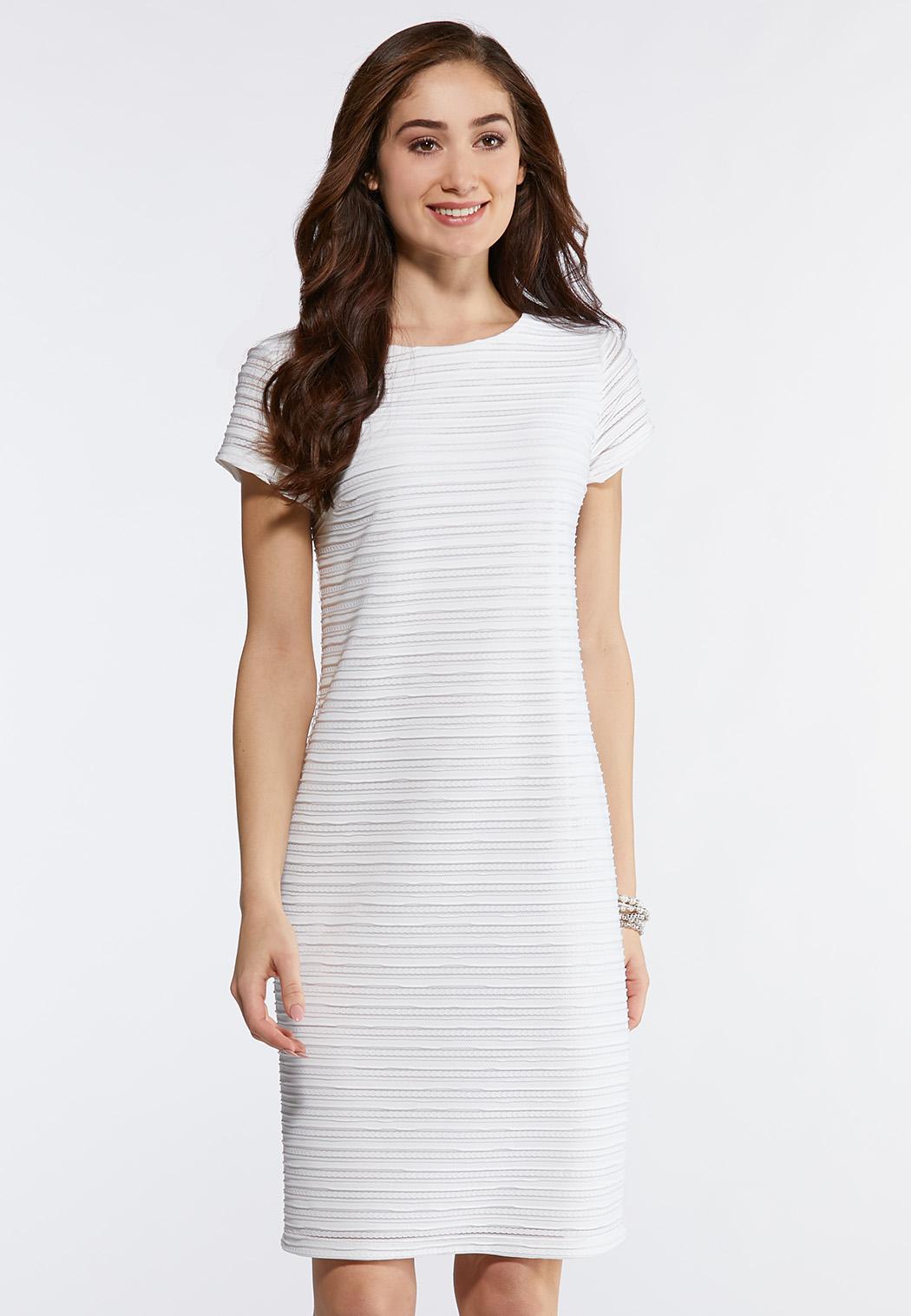 5e21d4ee1a00 Solid Textured Midi Dress Junior/Misses Cato Fashions
